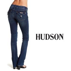 HUDSON Low Rise Signature Bootcut Jeans